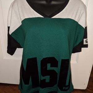 V.s Pink MSU Tee new with tags